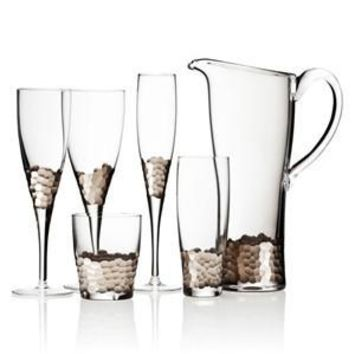 Paillette Stemware in Platinum by Kim Seybert