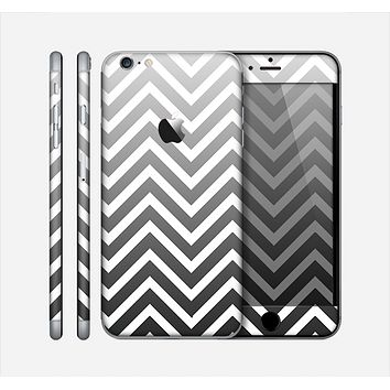 The White & Gradient Sharp Chevron Skin for the Apple iPhone 6 Plus