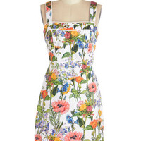 ModCloth Mid-length Tank top (2 thick straps) Sheath Topped with Botanicals Dress