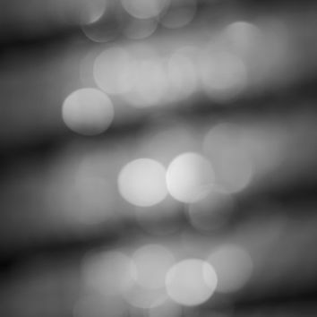 Abstract Photography - Black and White Art Print - Bokeh City Lights - Modern Minimalist Grey Photo - Fine Art Photography