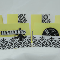 Elegant yellow black greeting card set (6)