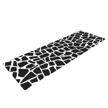 "Project M ""British Mosaic Black"" Yoga Mat"