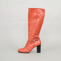 70's ITALIAN Tall Leather Boots US 8.5