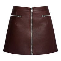 Zippered Raw Edged Mini Skirt by Alexander Wang for Preorder on Moda Operandi