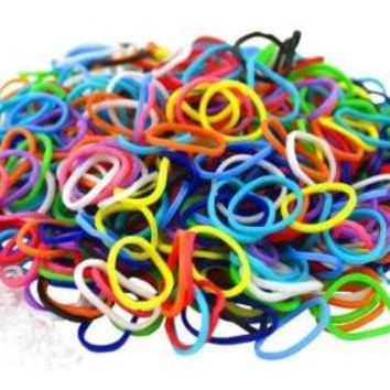 Loom Extra Rubber Bands for Mini Loom (Makes Rainbow Fishtail Rubber Band Bracelets and fits in your pocket)