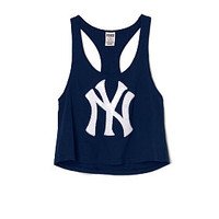 New York Yankees Bling Crop Tank - PINK - Victoria's Secret