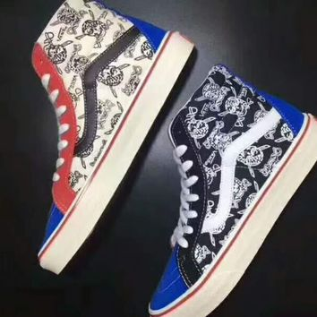 Vans Sk8-Hi 50th Ankle Boots Old Skool Canvas Flat Sneakers Sport Shoes G-CSXY-2