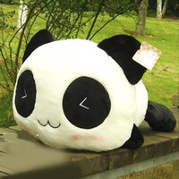Cushion Lumbar Pillow Panda Plush Toy pillow Popular Cute Panda Flint Toy
