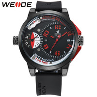 Watches Men Luxury Waterproof 2 Time Zones Analog Silicone Band Men Wristwatches Fashion Quartz Watch