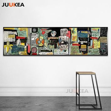 Cuadros Decoration Abstract Liberalism Graffiti Symbols Long Size Wall Art Canvas Painting Prints and Posters for Living Room