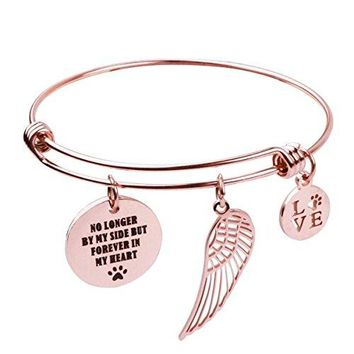 REEBOOO Pet Memorial Gift nbspLoss of Pet Bracelet No longer by my side but forever in my heart