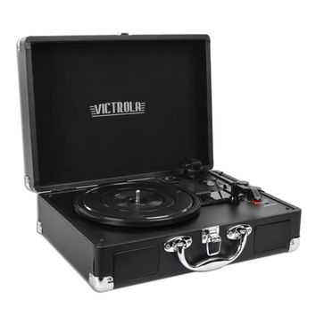 Victrola VSC-550BT 3-Speed Vintage Bluetooth Suitcase Turntable (Black) - B