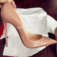 Factory On Sale Fashion Women Pumps Luxury So Kate Patent Leather Black Nude Pointed Toe High Heels Wedding Dress Shoes Woman