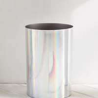 Melinda Hologram Trash Can | Urban Outfitters