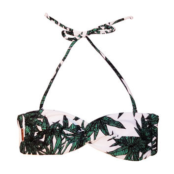 Mara Hoffman Twist Bandeau in Harvest
