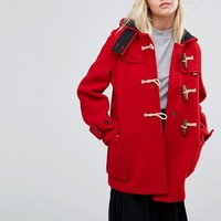 Gloverall Mid Monty Coat in Red at asos.com