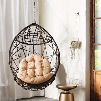 Tear Drop Swing Chair with Stand