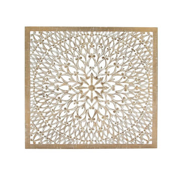 Benzara Designer Wooden Handicrafts Wall Panel