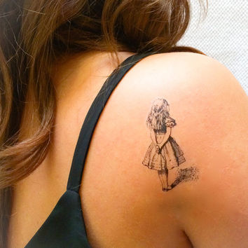 2 Alice in Wonderland Temporary Tattoos- SmashTat