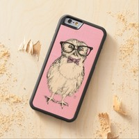 Nerdy owlet - pink background
