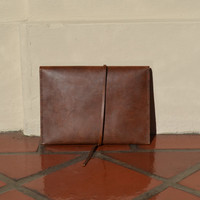 Handmade Leather Clutch, Leather Case/Bag for iPad, Sumsung Galaxy Tab 2, Microsoft Surface, Google Nexus 10