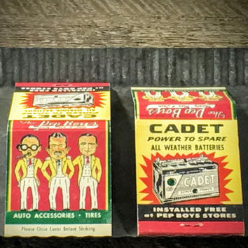 Old Matchbooks - Vintage Pep Boys Advertising- Sold in Pairs
