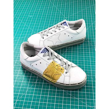 Golden Goose Hi Star Ggdb White Gold Sneakers