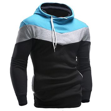 New Men Hoodies and Sweatshirts Patchwork Hoodies Men Brand Fashion Men's Tracksuits Sweatshirts Hooded Men Coats