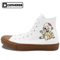 Zombie Doll Dog Painted Converse