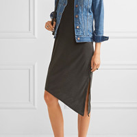 Splendid - Asymmetric slub modal-blend dress