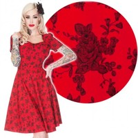 Voodoo Vixen Red Roses 50's Dress | Classic Floral Retro Style