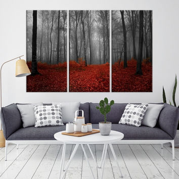89583 - Forest Wall Art- Autumn Canvas Print- Forest Canvas- Forest Canvas Art- National Art Print- Canvas Print- Large Wall Art-