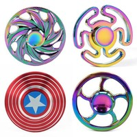 Top Finger Spinner Fidget Toy Rainbow Metal Bearing Cool figet spiners spinner hand rainbow fidget spinners and fidget toy focus