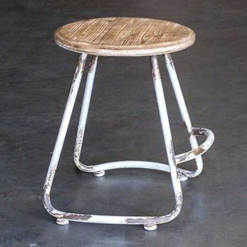 Wood Top Loft Stool