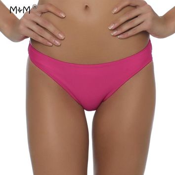M&M Sexy Bikini Bottoms 2017 New Hot Sale Swimwear Women Multi Color Women Low Waist Bathing Suit Top Swimsuit Panties Underwear