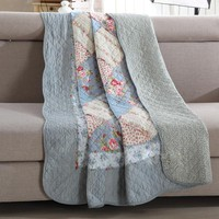 CHAUSUB Summer 100% Cotton Patchwork Quilt 1 piece Twin Size Student Quilts Sofa Blanket Bed Cover Sheet Kids Bedding Coverlets
