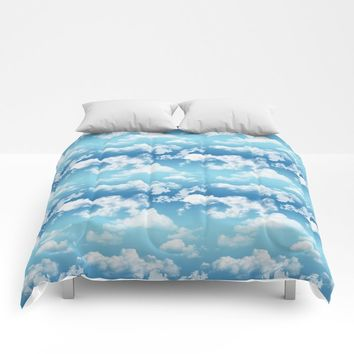 Cloudy Blue Sky Pattern by WickedRefined - Nicole Demereckis