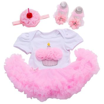0850c87be4 Summer New Born Baptism Baby Girl Dress;Tutu Summer Wedding Baby