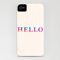 HELLO. iPhone Case by Galaxy Eyes | Society6