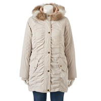 Braetan Hooded Microfiber Anorak Jacket - Women's Plus Size, Size: