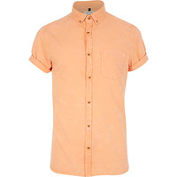 River Island MensCoral acid wash short sleeve shirt