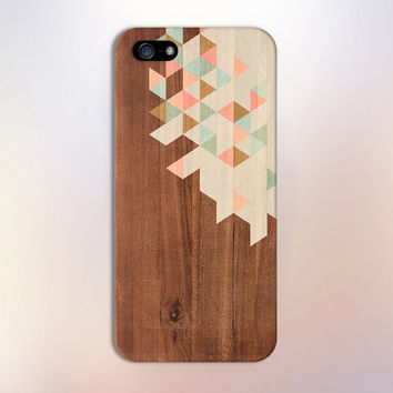 Geometric Pastel Colored Wood Blocks Design Case for iPhone 6 6 Plus iPhone 5 5s 5c iPhone 4 4s Samsung Galaxy s5 s4 & s3 and Note 4 3 2