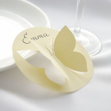 50 Place Cards  Butterfly  Original calligraphy  by MamaTita