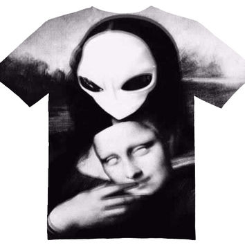 Mona Lisa Alien Tee Shirt