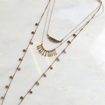 Bantom Adjustable Layered Necklace
