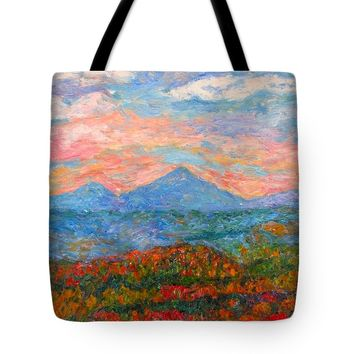 Rolling Autumn Tote Bag