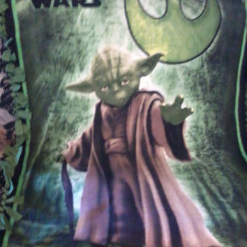 Fleece Blanket Star Wars Yoda
