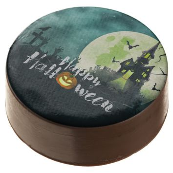 Spooky Haunted House Costume Night Sky Halloween Chocolate Dipped Oreo