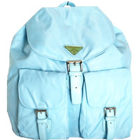 Nylon Sports Girl Mini Backpack - Blue