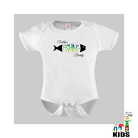 Daddy's Fishing Buddy Baby Bodysuit for the Baby or Toddler Tee, Baby Boy Clothes, Baby Fishing Shirt
